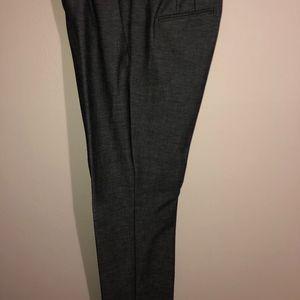 Ann Taylor 6 curvy gray pants -- ankle length